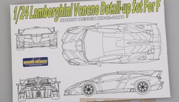 Lamborghini Veneno Detail-up Set For F - Hobby Design