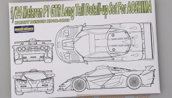 Mclaren F1 GTR Long Tail Detail-up Set For A - Hobby Design