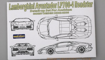 Lamborghini Aventador LP700-4 Roadster Detail-up Set For Aoshima - Hobby Design