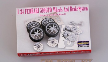 Ferrari 599 GTO Wheels and Brake System Detail-up Set For R - Hobby Design