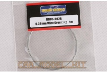 Drát 0.38mm Wire (Grey)1m - Hobby Design