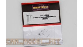 Rivets 0.5mm Tapered Head - Hobby Design