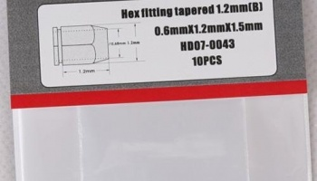 Hex Fitting Tapered 1.2mm (B) - Hobby Design