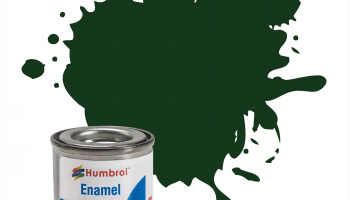 H.195 Chrome green satin enamel tinlet - Humbrol