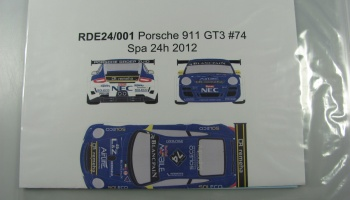 Porsche 911 GT3 #74 Spa 24h 2012 - Racing Decals 43