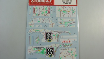 BMW M1 Map of France LM 1980 - Studio27