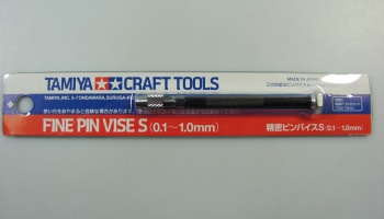 Fine Pin Vise S 0,1-1,0mm - Tamiya