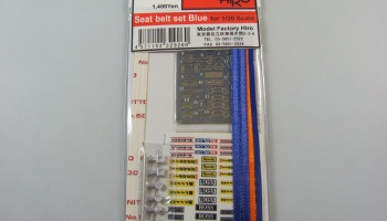 Seat Belt Set Blue 1/20 - Model Factory Hiro