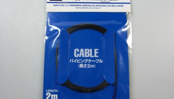 Piping Cable 0,8 mm Black - Tamiya
