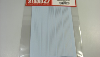 Extremely Thin Line Decal : Silver - Studio27