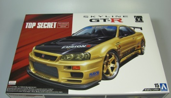 Nissan Skyline GT-R R34 Top Secret - Aoshima