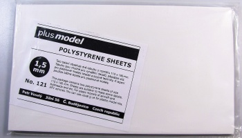 Polystyrene Sheets 1,5mm 2pcs 110x190mm - Plus Model