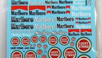 Logo Several Marlboro, Lucky Strike - COLORADODECAL