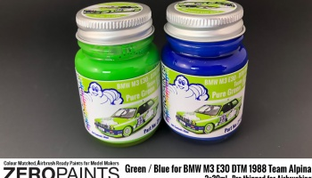 BMW M3 E30 - DTM 1988 Team Alpina - Green / Blue - Zero Paints