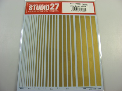 Line Decal : Gold - Studio27