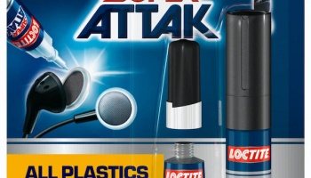 Loctite Super Attak All Plastics - 2 g + 4 ml - Loctite