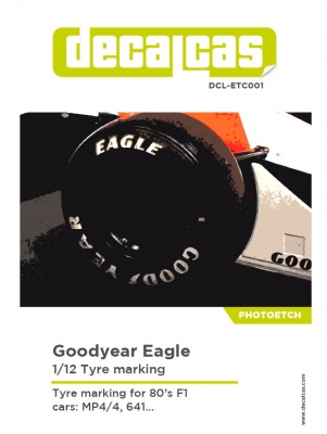 Logotypes 1/12 Goodyear Eagle - Decalcas