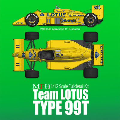 Lotus 99T Fulldetail Kit - Model Factory Hiro