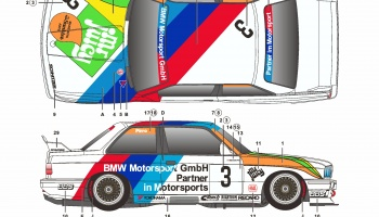 BMW M3 E30 Macau 1990 Mr. Juicy - SKDecals