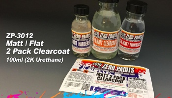 MATT/FLAT 2 Pack Clearcoat 100ml - Zero Paints