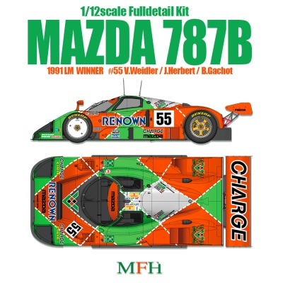 MAZDA 787B Full Detail Kit 1/12- Model Factory Hiro