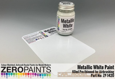 Metallic White Paint 60ml - Zero Paints