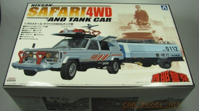 Nissan Safari 4WD and Tank Car - Aoshima