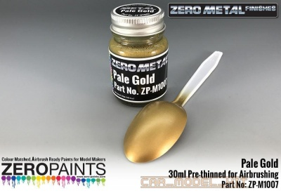 Pale Gold Paint - 30ml - Zero Metal Finishes - Zero Paints