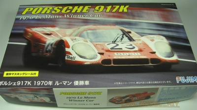 Porsche 917K 1970 Le Mans Championship Car with Window Frame Masking Seal - Fujimi