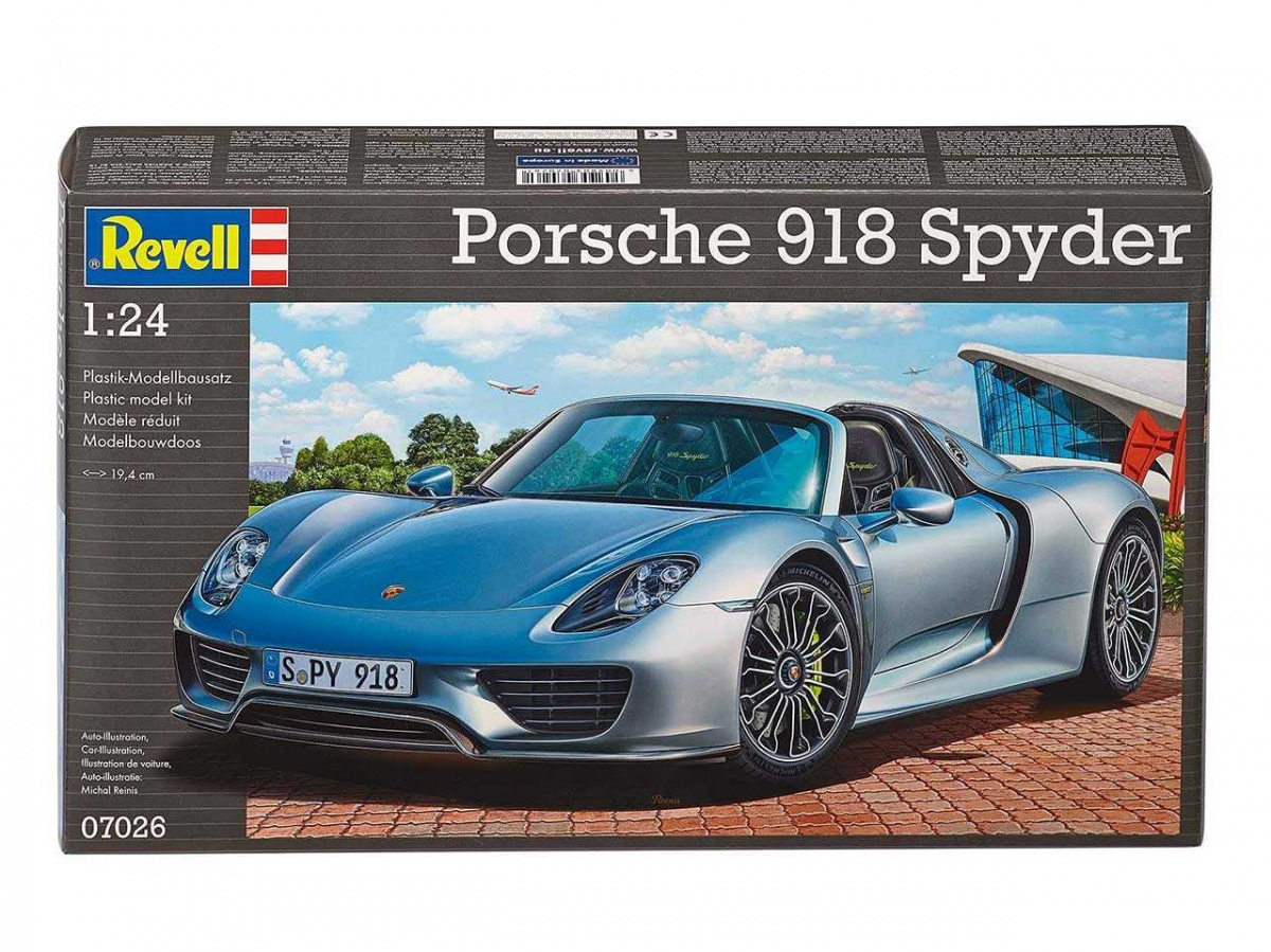 porsche 918 spyder revell car model. Black Bedroom Furniture Sets. Home Design Ideas