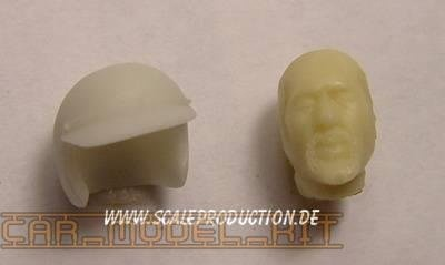"Racecar Driver head ""H. Pescarolo"" - SCALE PRODUCTION"