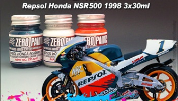 Repsol Honda NSR500 1998 Paint Set 3x30ml - Zero Paints