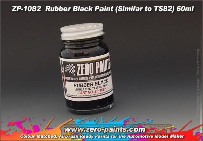 Rubber Black Paint (Similar to TS82) - Zero Paints