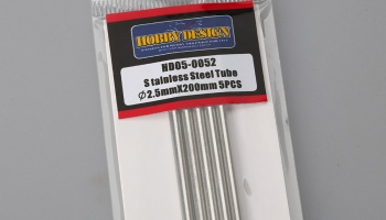 Stainless Steel Tube 2,5mm x 200mm 5PCS - Hobby Design