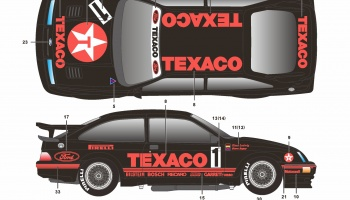 Ford Sierra RS500 Texaco - SKDecals