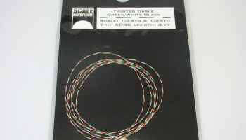 Twisted Detailing Cable Green/White/Black 1:24 & 1:25 - Scale Motorsport