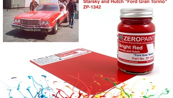 "Starsky and Hutch ""Ford Gran Torino"" Bright Red - Zero Paints"