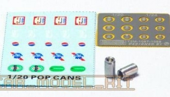 POP CANS 1/20 (machined parts+decal+film backed PE) - T2M