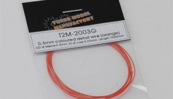 Wire Detail 0.5mm Colored (Orange) - T2M