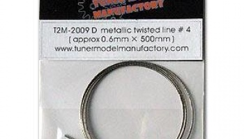 Metallic twisted line 0.6mm - T2M