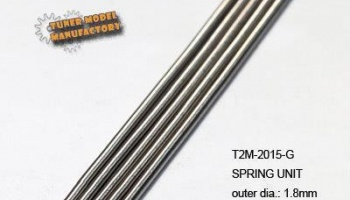 Springs 1.8mm x 150mm x 5PCS (0.15mm wire dia.) - T2M