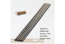 Springs 1.9mm x 150mm x 5PCS (0.15mm wire dia.) - T2M