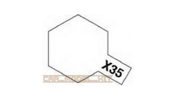 X-35 Semi Gloss Clear Acrylic Paint Mini X35 - Tamiya