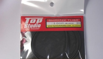 Shrink Tube (Black) 2.0 mm - Top Studio