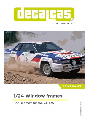 Window Frame Paint Masks 1/24 scale - Nissan 240RS - Decalcas