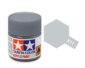 X-11 Chrome Silver Acrylic Paint Mini X11 - Tamiya