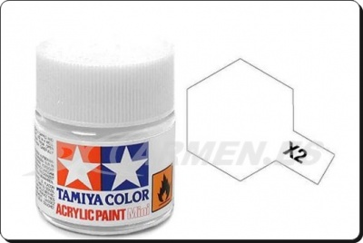 X-2 White Acrylic Paint Mini X2 - Tamiya