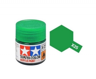 X-25  Clear Green Acrylic Paint Mini X25 - Tamiya