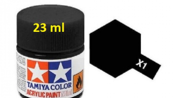 X-1 Black Acrylic Paint 23ml X1 - Tamiya