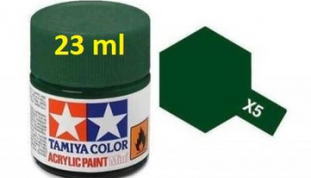 X-5 Green Acrylic Paint 23ml X5 - Tamiya